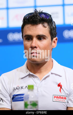 Città di Yokohama, Kanagawa, Giappone. 14 Maggio, 2015. Javier Gomez Noya (ESP) Triathlon : 2015 ITU Triathlon World Foto Stock