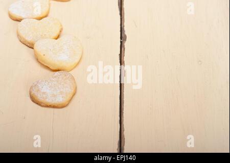 A forma di cuore san valentino frollini cookies Foto Stock