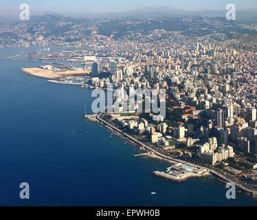 Immagine aerea di Beirut, Libano Foto Stock