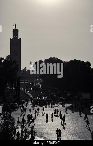 Mosquée de la Koutoubia, Marocco, Marrakech Foto Stock