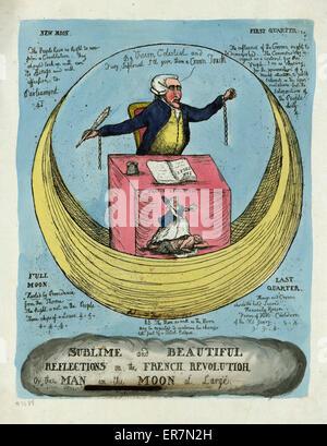 Sublime e belle riflessioni sulla rivoluzione francese, o l'uomo della luna in grande. Stampa mostra Edmund Burke Foto Stock