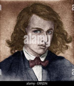 Rossetti, Dante Gabriel o Gabriel Charles Dante Rossetti - poeta inglese, pittore e traduttore 1828-1882. Self-portrait quando