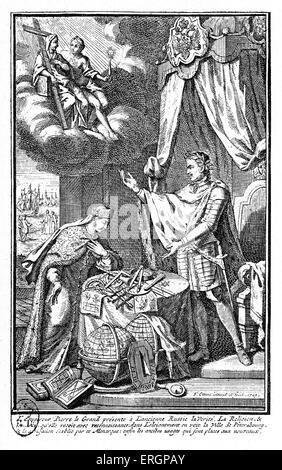 Imperatore Pietro il Grande. Zar russo che ha guidato una rivoluzione culturale che ha sostituito alcuni dei tradizionalisti Foto Stock