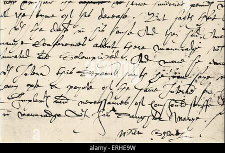 William Shakespeare - firma. Drammaturgo Inglese, 1564-1616 Foto Stock