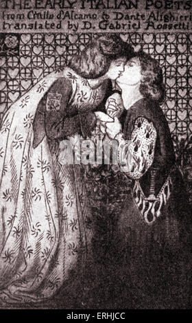 """Dante Gabriel Rossetti - 'primi poeti italiani"""", 1861. Il poeta inglese, artista e traduttore 's design per il titolo della pagina"""