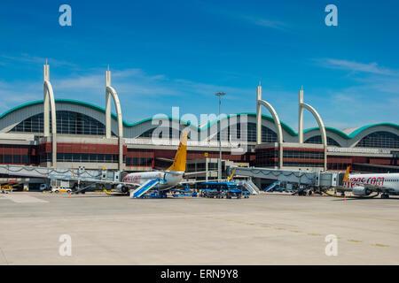 Main terminal passeggeri dell'aeroporto internazionale di Sabiha Gokcen. Istanbul, Turchia Foto Stock