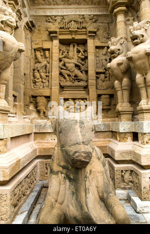 Tempio Kailasanatha in arenarie re Pallava Narasimhavarman Kanchipuram ; Tamil Nadu ; India