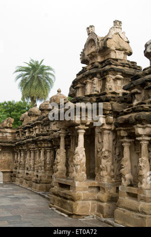 Tempio Kailasanatha in arenarie costruito dal re Pallava Narasimhavarman Kanchipuram ; Tamil Nadu