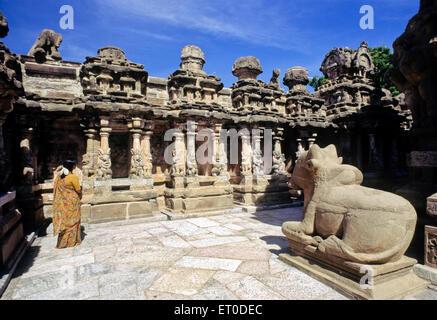 Tempio Kailasanatha ; Kanchipuram ; Tamil Nadu ; India