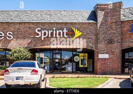 L'esterno di uno sprint shop di telecomunicazione. Oklahoma City, Oklahoma, Stati Uniti d'America. Foto Stock