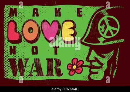 Fare l'amore non la guerra, 68 summer of love, sessanta anti-guerra di ispirazione design poster