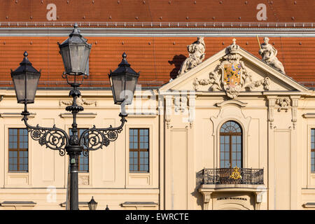 Esterno del Museo Ebraico di Berlino, Germania Foto Stock