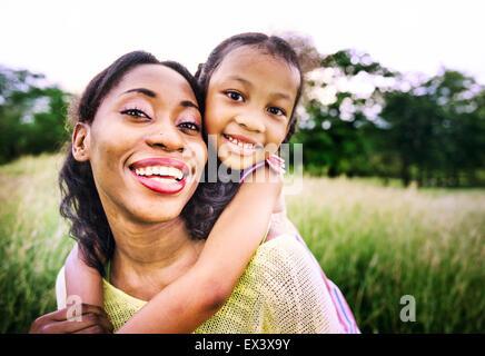 Famiglia africana felicità Vacanze la nozione di attività Foto Stock