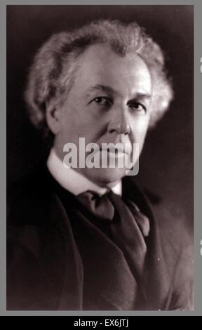Frank Lloyd Wright (nato Frank Lincoln Wright, Giugno 8, 1867 - Aprile 9, 1959) era un architetto americano Foto Stock