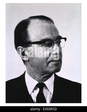 """Arne Tiselius (1902 - 1971) biochimico svedese che ha vinto il Premio Nobel per la Chimica nel 1948 """"per la sua Foto Stock"""