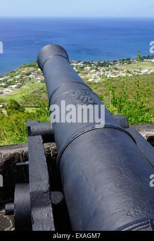 Brimstone Hill Fortress, sito UNESCO, Saint Kitts, Saint Kitts e Nevis, Isole Sottovento, West Indies, dei Caraibi e America centrale Foto Stock