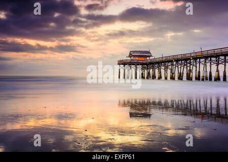 Cocoa Beach, Florida, Stati Uniti d'America presso il molo. Foto Stock