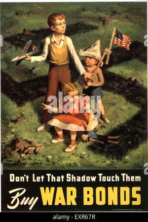 1940s USA acquistare obbligazioni di guerra Poster Foto Stock