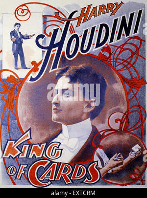 1910S UK Harry Houdini Poster Foto Stock