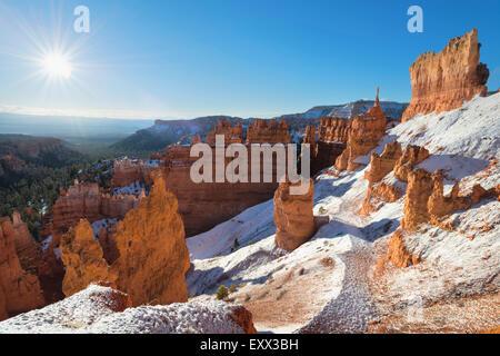 Vista del paesaggio invernale Foto Stock
