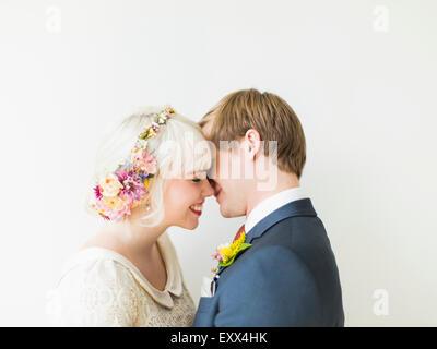 Ritratto di sposa giovane Foto Stock