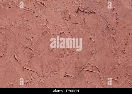 In Terracotta parete in stucco. Texture di sfondo. Foto Stock