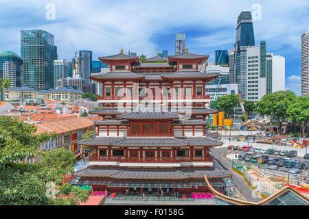 Il Dente del Buddha reliquia tempio in Singapore Chinatown