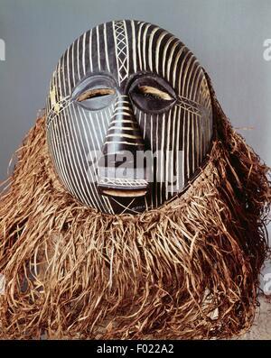 Maschera cerimoniale, arte Baluba, Repubblica Democratica del Congo.