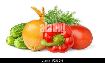Verdure isolato su bianco Foto Stock