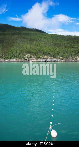 Sussistenza di reti da imbrocco impostato per la cattura del salmone nella Lynn Canal nel sud-est dell Alaska in Foto Stock