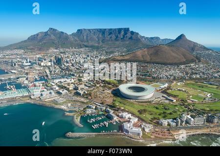 Vista aerea di Cape Town, Provincia del Capo occidentale, Repubblica del Sud Africa