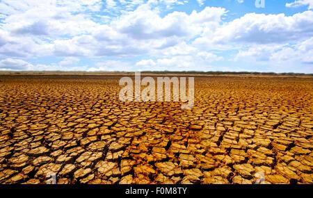 Arido deserto nel parco nazionale di Sarigua in Panama Foto Stock