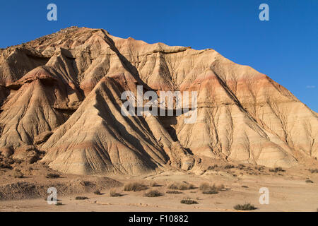 Landforms in Bardena Blanca, Bardenas Reales, Navarra, Spagna.