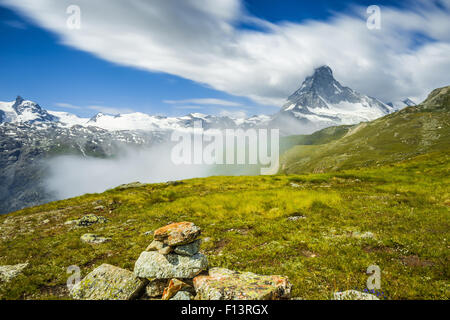 Il Cervino (Cervino). Paesaggio alpino. Svizzera Foto Stock