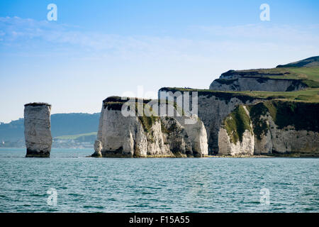 Old Harry Rocks Handfast punto, Studland, Isle of Purbeck, Dorset, England, Regno Unito Foto Stock
