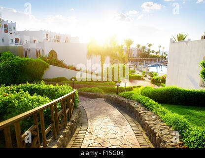 Bellezza egiziano di hotel di mattina Foto Stock