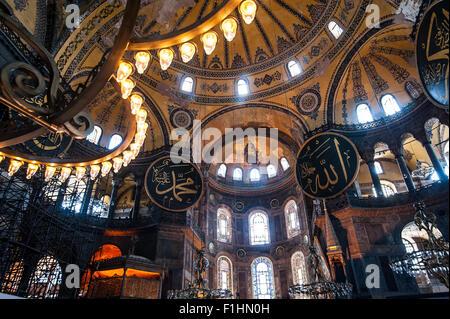 Turchia, Istanbul: Hagia Sophia è uno di Istanbul storico evidenzia in Sultanahmet, la parte storica della città. Foto Stock