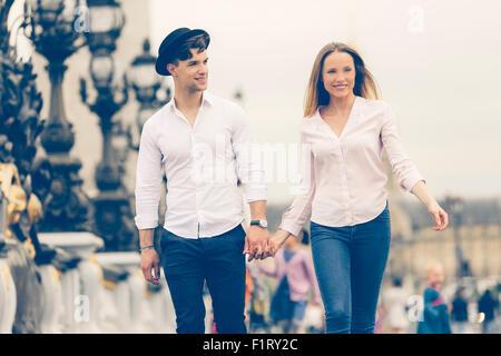 Paio di Incontri in Paris Foto Stock