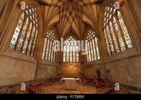 Cappella della Madonna, Cattedrale di Wells, pozzi, Somerset REGNO UNITO Foto Stock