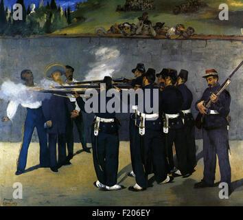 Edouard Manet - Esecuzione dell'Imperatore Massimiliano Foto Stock