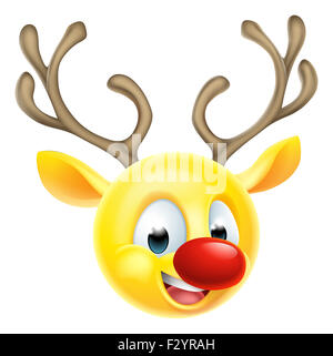 Cartoon Babbo Natale natale renne emoticon carattere emoji Foto Stock