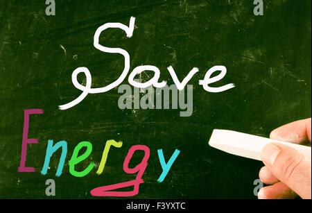 Salvare il concetto di energia Foto Stock