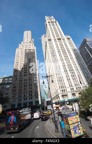 Grattacieli di Manhattan, New York City USA Foto Stock