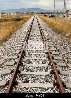 Rotaie del treno. Foto Stock