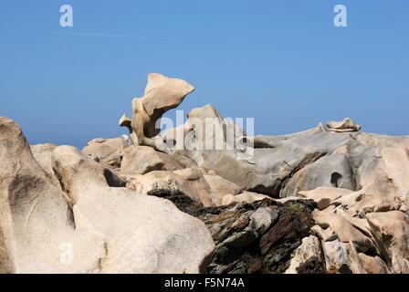 Le formazioni rocciose, Campomoro, Corsica, Francia