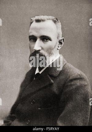 Pierre Curie, 1859 - 1906. Fisico francese, pioniere in cristallografia, magnetismo piezoelettricità e la radioattività. Foto Stock