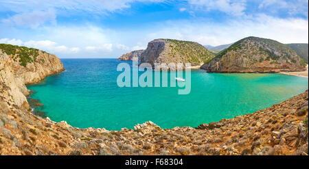 L'Isola di Sardegna - Cala Domestica Bay, Buggerru, Italia Foto Stock