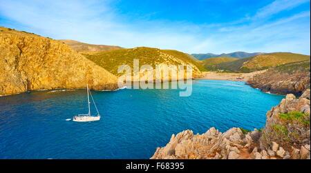 Cala Domestica Bay, Buggerru, Sardegna, Italia Foto Stock