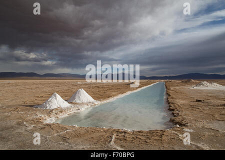 Fotografia di saline Salinas Grandes nel nordovest dell Argentina. Foto Stock