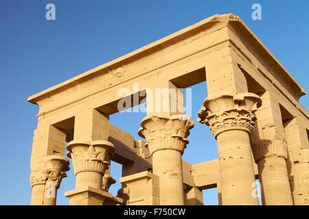 Egitto - isola di Philae, il Tempio di Iside, UNESCO Foto Stock